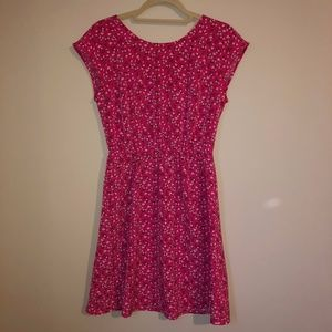 Old Navy Pink Flower Patterned Dress Size Small